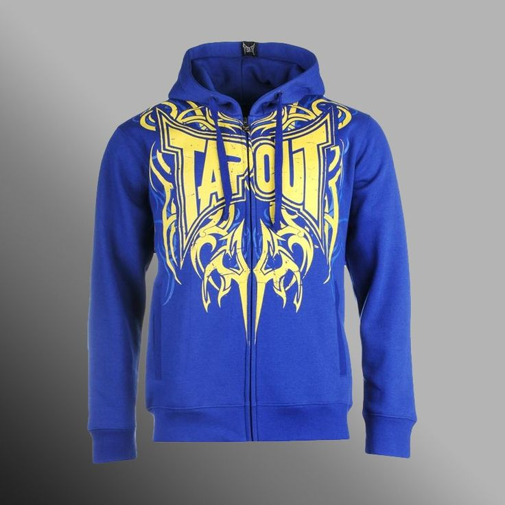 Mikina TAPOUT Darkside blue/yellow