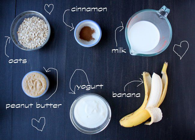 peanut butter banana oatmeal smoothie - the kitchen paper.  this was ridiculously delicious.