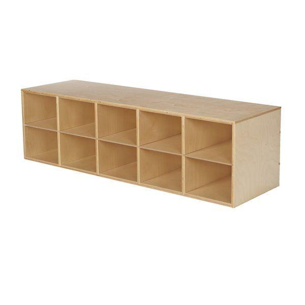 Stackable 10 Compartment Cubby Cubbies Shelving Unit Classroom Cubbies