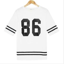 2015 New arrival monochrome baseball loose long t-shirt  best seller follow this link http://shopingayo.space