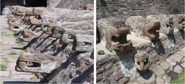 More stone statues representing Kukulkan at Tenayuca (Image: Jose Miguel Almeyda)