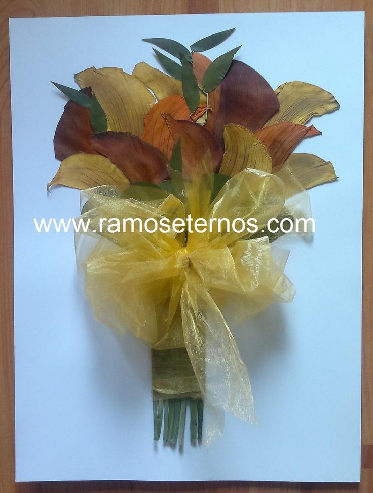www.ramoseternos.com Eternizo el hermoso ramo de Calas de Sylvia Vasquez, Santiago de Chile 2012