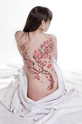like the flowersTattoo Ideas, Trees Tattoo, Back Piece, Body Art, Back Tattoo, Tattoo Design, Blossoms Trees, Cherries Blossoms Tattoo, Cherry Blossoms