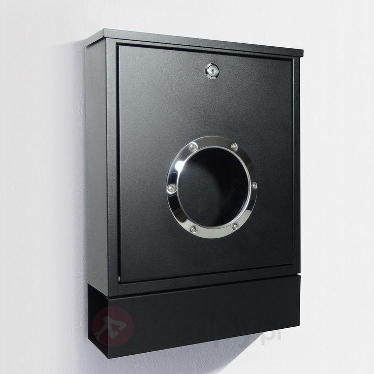 Skrzynka na listy LETTERMAN MINI z półką, czarna bezpieczne & wygodne zakupy w sklepie internetowym Lampy.pl.