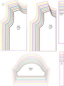 Free sewing patterns: free printable pdf patterns and tutorials. Patrón camiseta