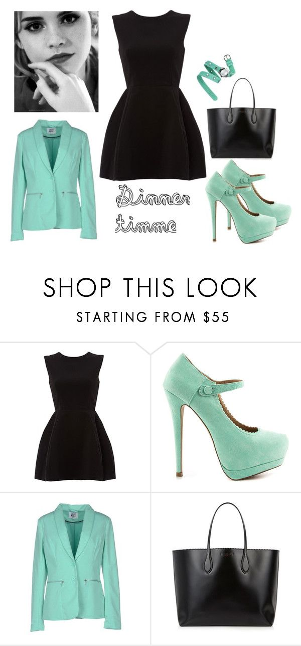 """dinner timme"" by lemon2000 ❤ liked on Polyvore featuring JustFab, Vero Moda, Rochas, Xhilaration and Emma Watson"