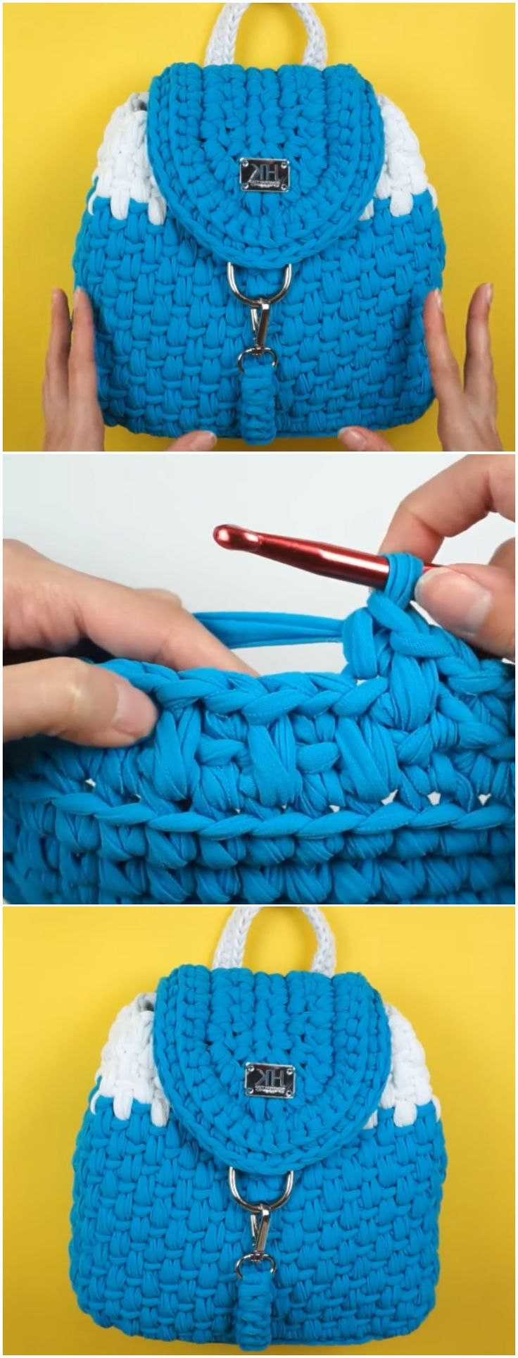 "Crochet Beautiful Backpack ""Nora"""