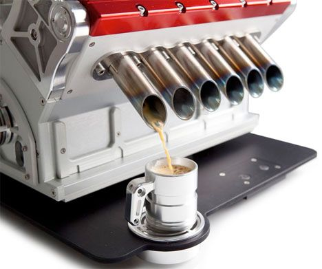 Rev Up: This V12 Engine Will Fuel You With Espresso for 15.000$