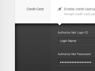 Credit Card Depth by Matthew Sanders via Dribbble