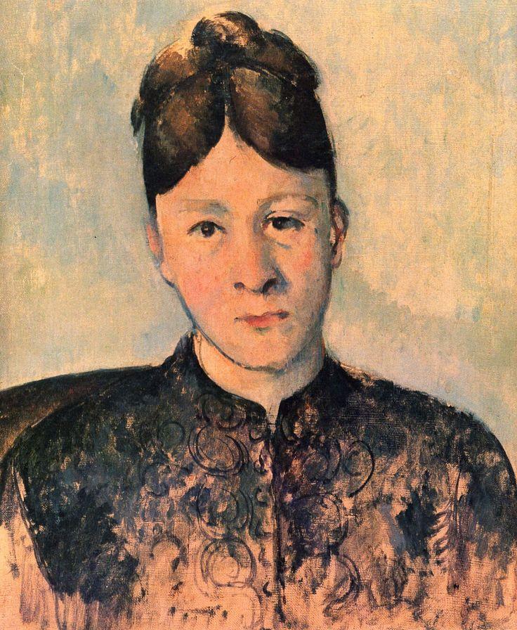 Paul Cézanne, Portrait de Mme Cézanne, vers 1885, 46 × 38 cm, coll. privée