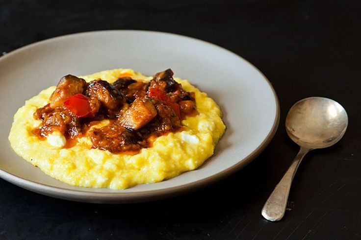 Yotam Ottolenghi's Sweet Corn Polenta with Eggplant Sauce recipe on Food52