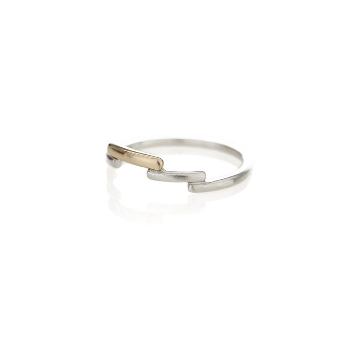 Brass and silver shashe ring | Dear Rae | Online Shop