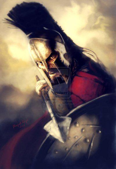 King Leonidas of 300 Illustration Artworks and Fan Arts