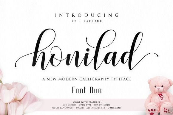 Best Honilad Script Font Duo CreativeWork247 - Fonts, Graphics, Themes, Templates...