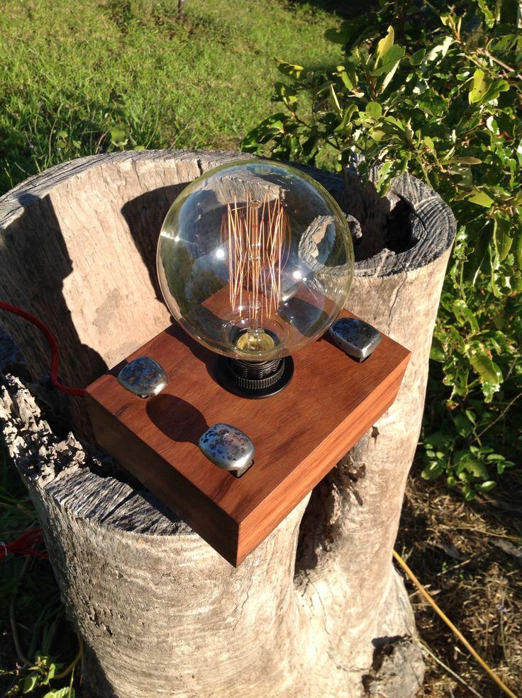 4 Spike Sleeper Edison Lamp 001 by BeamorFineDesign on Etsy