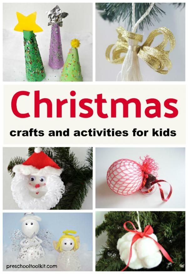 Christmas kids crafts and activities found on the Preschool Toolkit blog   #Christmascrafts #kidsactivities