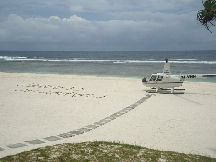 proposal on the beach at Havannah resort Vanuatu.  a great way to pop the question