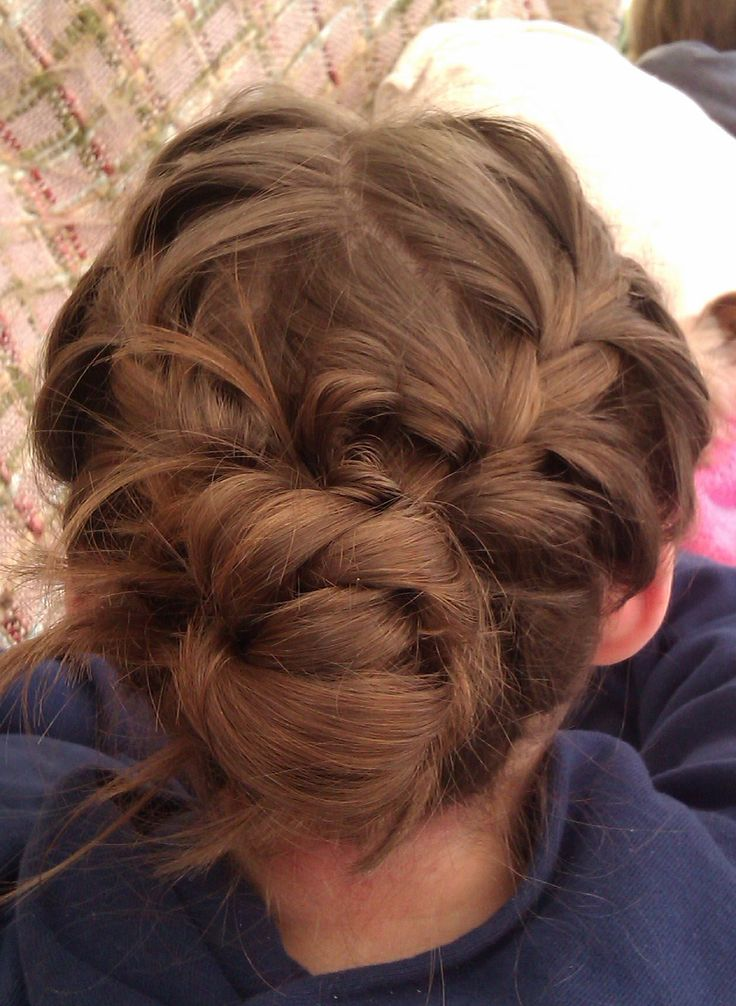 French Plait Bun Hair Pinterest French Buns And