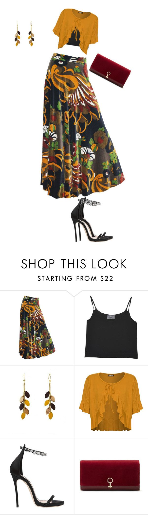 """Untitled #5556"" by browneyegurl ❤ liked on Polyvore featuring Gina Fratini, Antipodium, Atelier Maï Martin, WearAll, Dsquared2 and Louise et Cie"