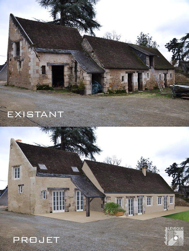 Maison avant et après rénovation