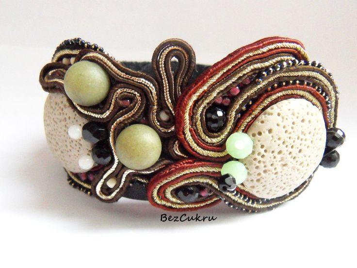Bransoletka skórzana od BezCukru w BezCukru - biżuteria z charakterem na DaWanda.com