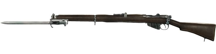 The Short Magazine Lee-Enfield Mark III, or SMLE Mk. III, is a British bolt-action rifle. The Mark III was an evolution of the Magazine Lee-Enfield, as the name suggests it was shortened by about 5in or 13cm, and was introduced in 1907. Complexity of manufacture meant that a simplified variant, the SMLE Mk. III, was introduced in 1915. Firing.303 British from a 10-round internal magazine, it had double the capacity of most other nations' rifles. British infantry wielding the rifle were al...