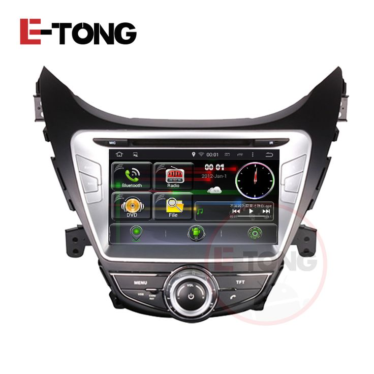 Car DVD GPS For Hyundai Elantra 2012 With Android 4.4.4 Steering Wheel Bluetooth Radio Video 3G WIFI Wifi Car Cover