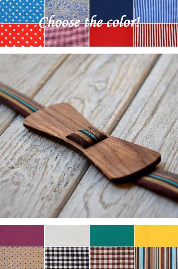 A unique attachment method for a wooden bowtie