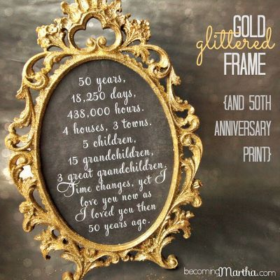 Gold and Glittered Frame and Print