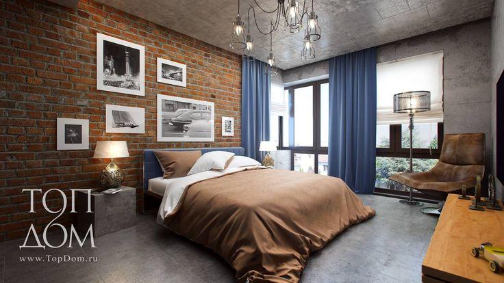 Фото интерьера спальни в стиле лофт – квартира в ЖК Новогорск