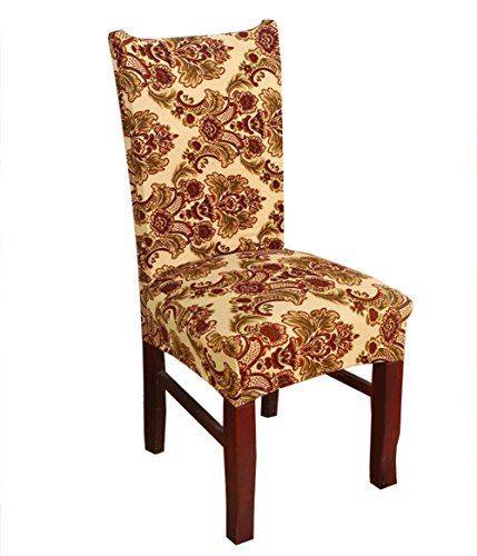 Stretch Removable Washable Short Dining Chair Cover Prote