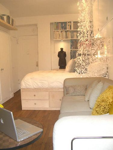Love this idea for a studio apartment....someday I may need this!