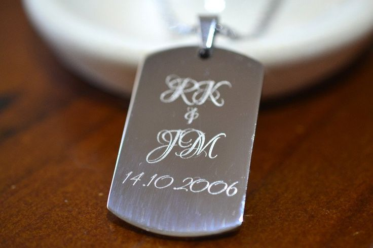 Personalised Dog Tag, Stainless Steel Necklace, Custom Engraved Men's Anniversary Gift