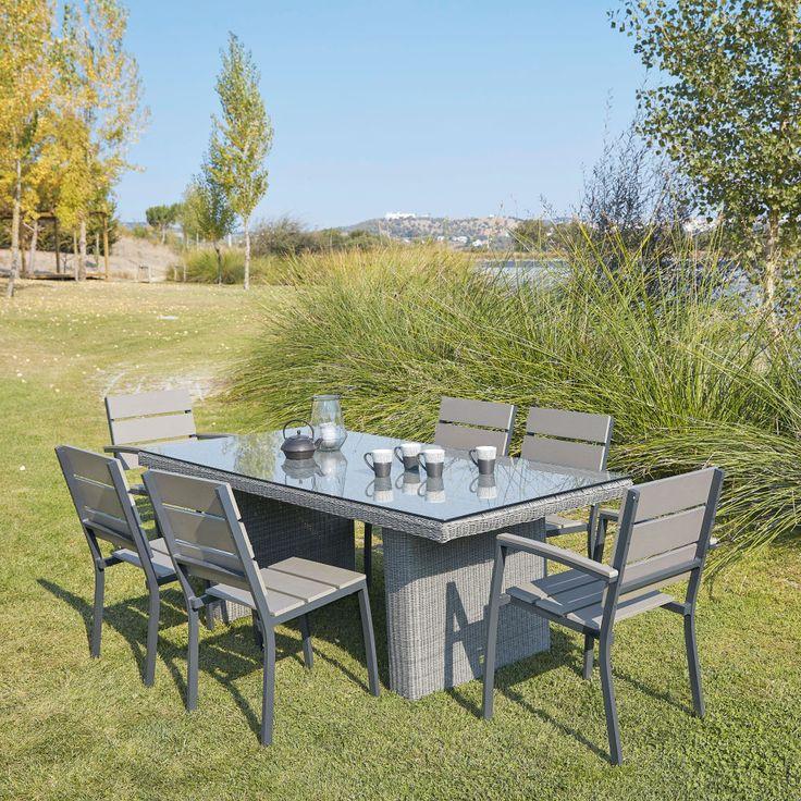 Gartenstuhl aus Aluminium und Plastik in Holzoptik | Maisons du Monde