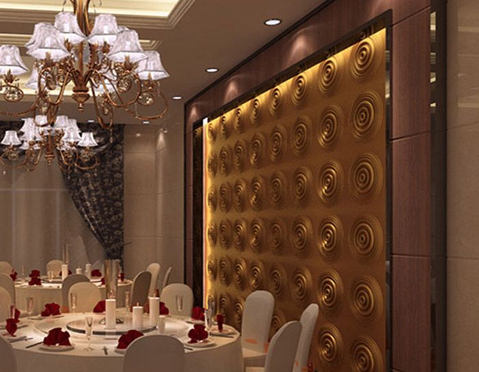 Widely Used in Home Decoration Ceiling Wall Covering 3D Board PVC Wall Panel