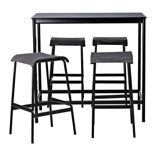 GARPEN Bartafel en 4 barkrukken IKEA