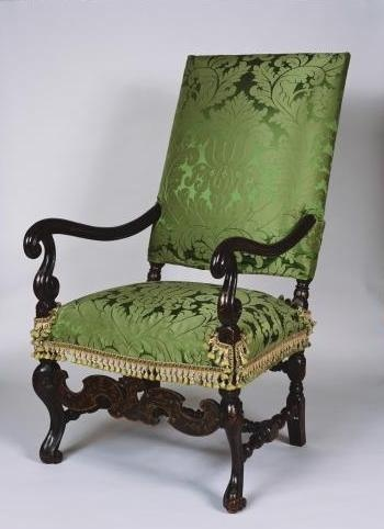 Japanned Armchair Attributed To John Ridge, 1682, At Holyroodhouse,  Edinburgh. Royal Collection