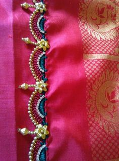 Crochet kuchu with beads hangjng