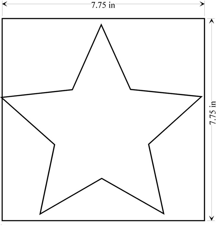 Massif image with large star template printable