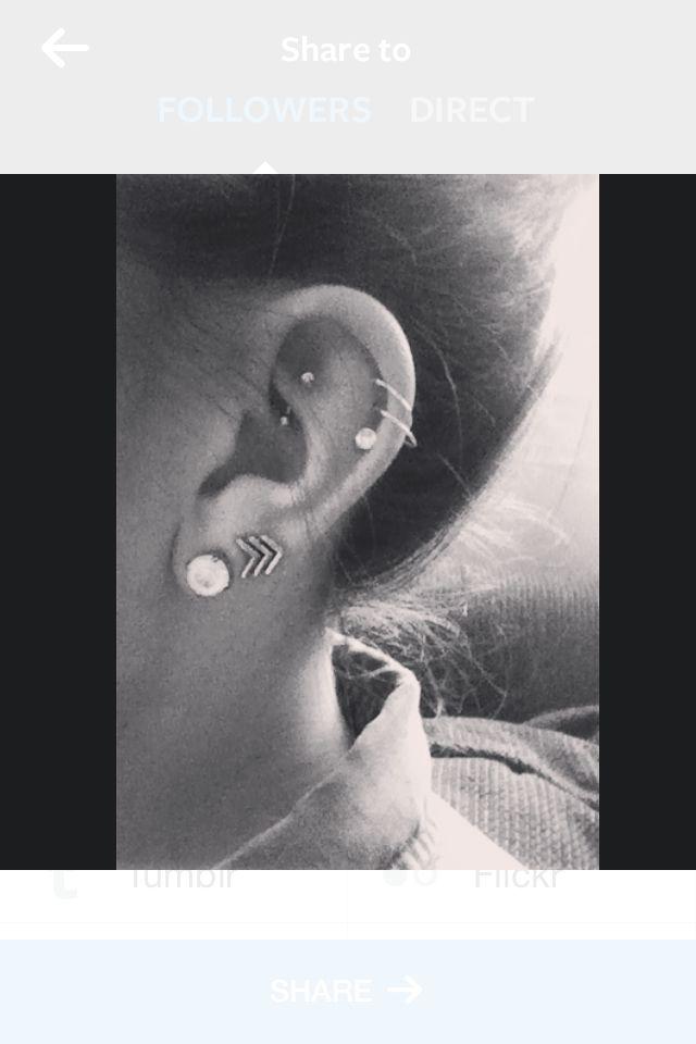 I love my ear piercings, rook piercings are so pretty