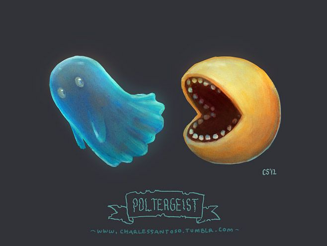 Poltergeist - daily random word doodles | Charles Santoso