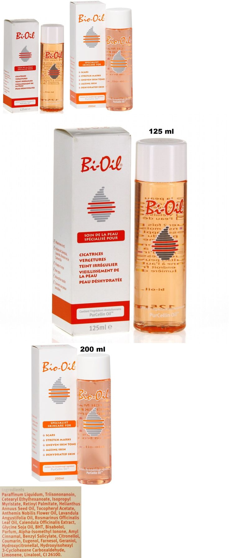 Scar and Stretch Mark Reducers: Bio-Oil For Scars,Stretch Marks, Uneven Skin Tone W/ Purcellin Oil- 125Ml, 200Ml -> BUY IT NOW ONLY: $32.85 on eBay!