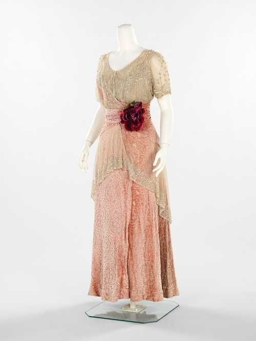 Clothes from 1911-1912 from Costume Institute of the Metropolitan Museum of Art in New York