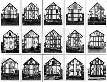 Photos of Fachwerkhäuser by Bernd and Hilla Becher.