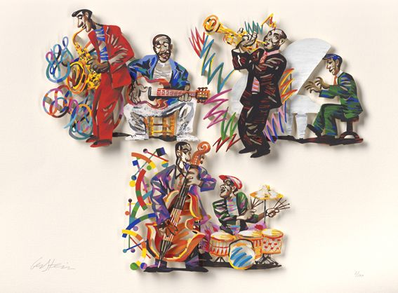 """Blue Note A,B,C #Jazz - 2007, 30"""" x 22"""" in, Paper Cuts By #DavidGerstein - #HorizonArts #Miami #ArtGallery #Wynwood #Jazzandthecity http://www.davidgerstein.us/portfolio/blue-note-abc-paper-cut/"""