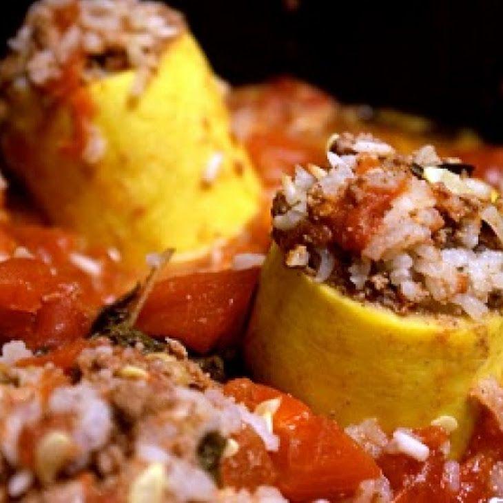 Lebanese Koosa (Stuffed Yellow Squash) Recipe