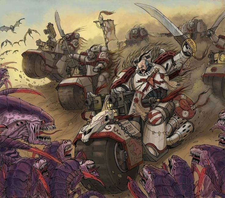 The White Scars engage the Tyranid forces