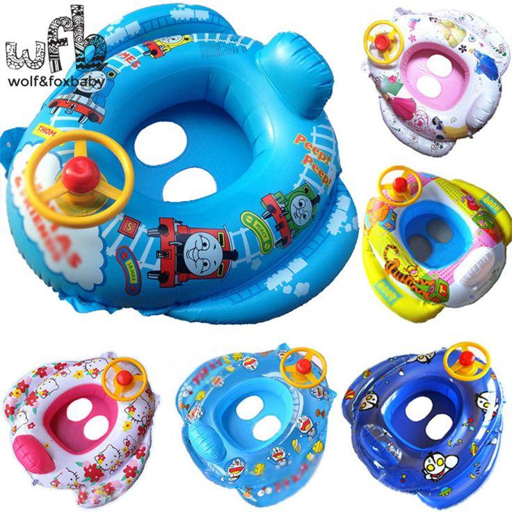 65*60cm Max Capability 23KG Children Swim Ring Baby Sitting Circle Life Floating cartoon