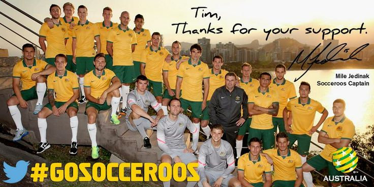 Cracking effort from the Socceroos in Brazil. We're very proud!