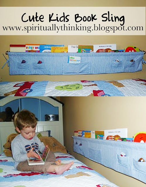 I HAVE to have someone make this for Josh!!  Here is a better link for instructions: http://familyfun.go.com/crafts/book-sling-919473/